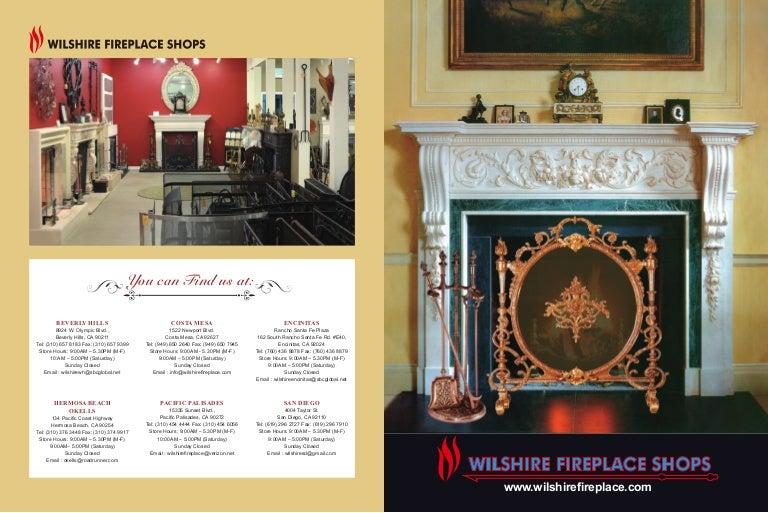 Wilshire fireplace shops catalogs