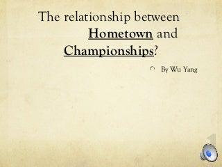 [Data Visualization] NBA Players Hometown and NBA Championships