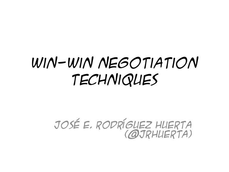 Win win negotiation techniques