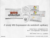 Win7 Launch - Building cool applications with MS Expression tools