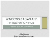 Windows 8 as an Application Integration Hub