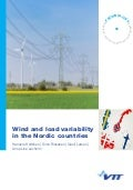 Wind and load variability in the Nordic countries