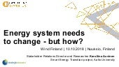 Energy system needs to change