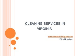 Window cleaning service in Virginia