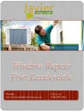 Window Repair Fort Lauderdale