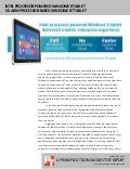 Intel processor-powered Windows 8 tablet vs. ARM processor-based Windows RT tablet