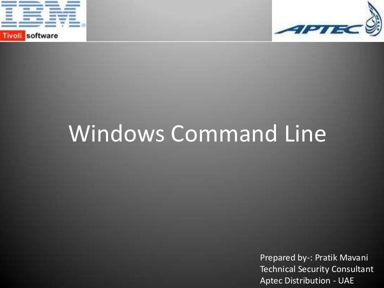 Windows Command Line Tools