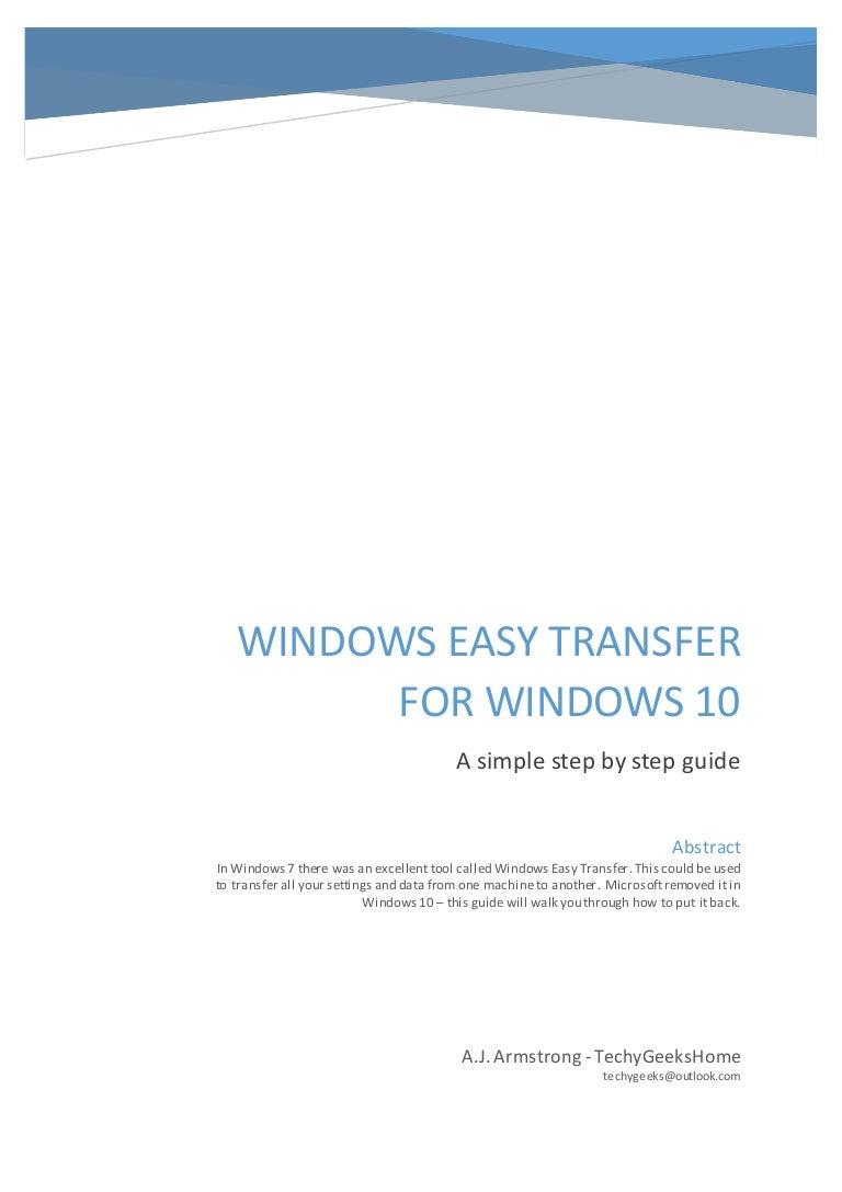 Windows easy transfer alternative