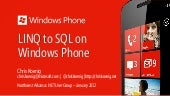 Databases for Windows Phone