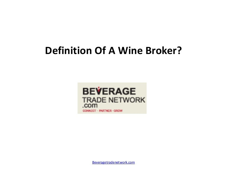 Wine Broker | Resume CV Cover Letter