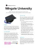 [Case Study] Wingate University: How Higher Education Uses Content Marketing and Social Media