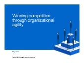 Winning competition through organizational agility