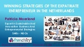 Winning Strategies Of The Expatriate Entrepreneurs In The Netherlands