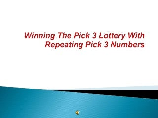 winningthepick3withrepeatingpick3numbers