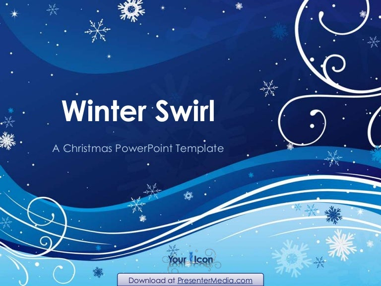 winter swirl powerpoint template, Powerpoint templates