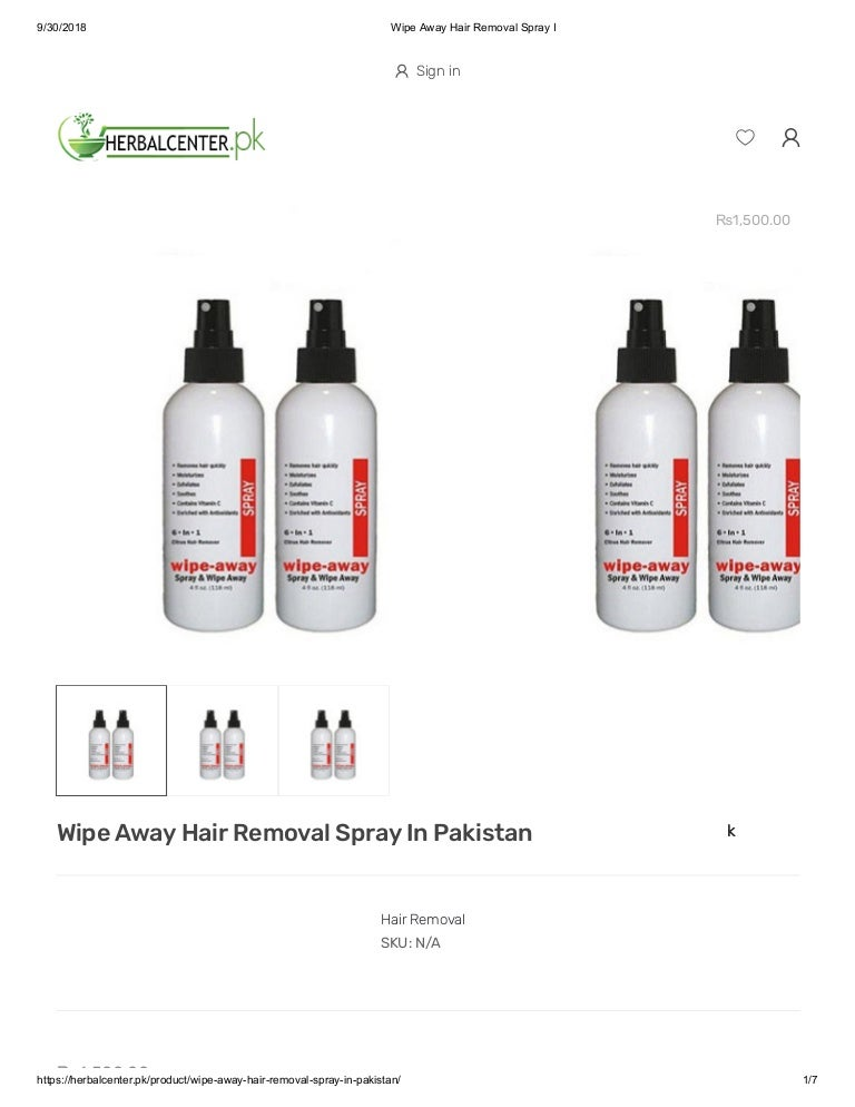 Wipe Away Hair Removal Spray In Pakistan Body Hair Removal Spray