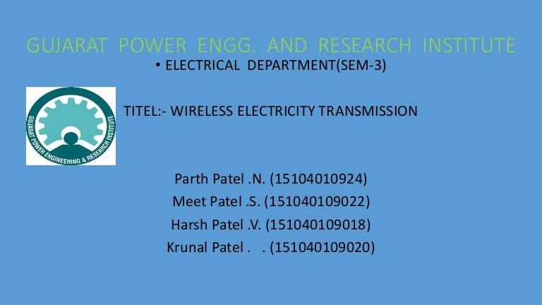 Wireless electricity trensfer