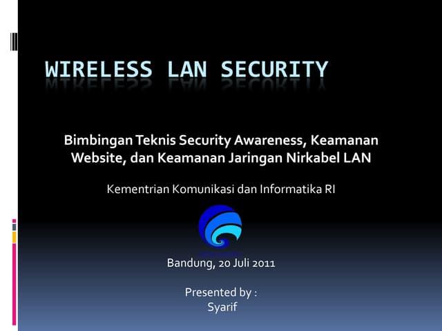 Wireless LAN Security-Bimtek Kominfo