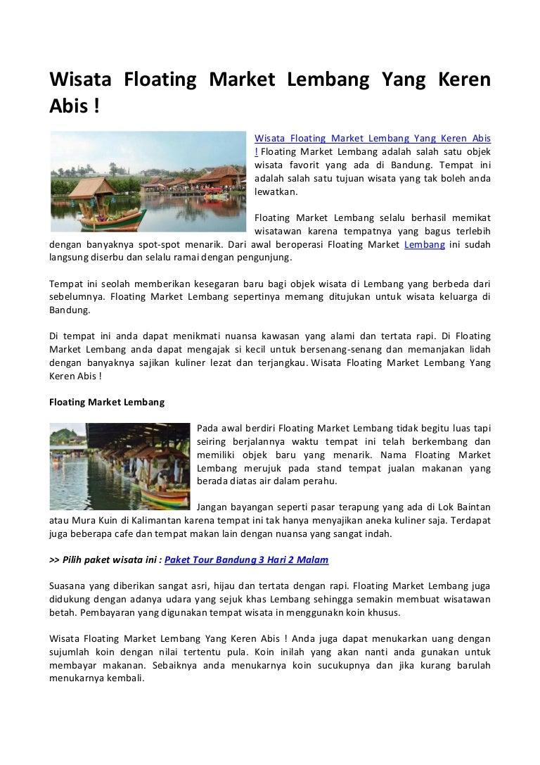 Wisata Floating Market Lembang Yang Keren Abis Tiket Masuk