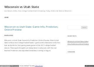 Wisconsin vs Utah State