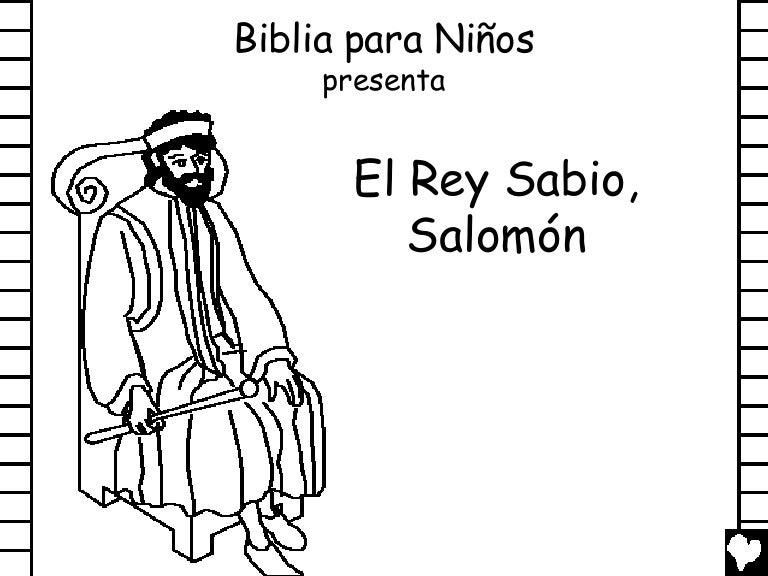 Dibujos Biblicos Para Colorear Del Rey David: Wise King Solomon Spanish Cb