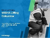 WISHA Lifting Calculator