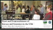 Talk on Trust and Trustworthiness in the USA
