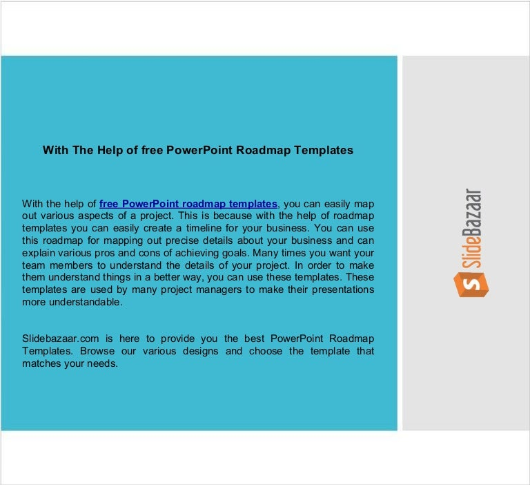 With The Help Of Free Powerpoint Roadmap Templates