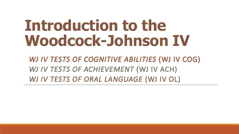 WJ IV NASP 2014 workshop: Intro and overview by Dr. Fred Schrank
