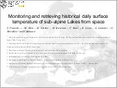Monitoring and retrieving historical daily surface temperature of sub-alpine Lakes from space