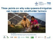 Three Points on why Solar Powered Irrigation can Happen for Smallholder Farmers