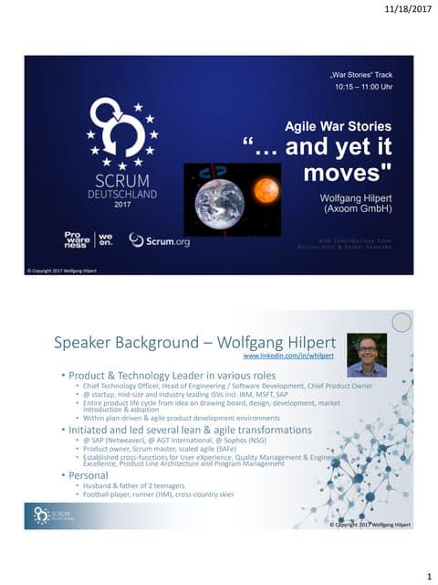 Wolfgang hilpert   scaling agile war stories - scrum germany 2017-11-17