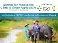 Metrics for Monitoring Climate-Smart Agriculture