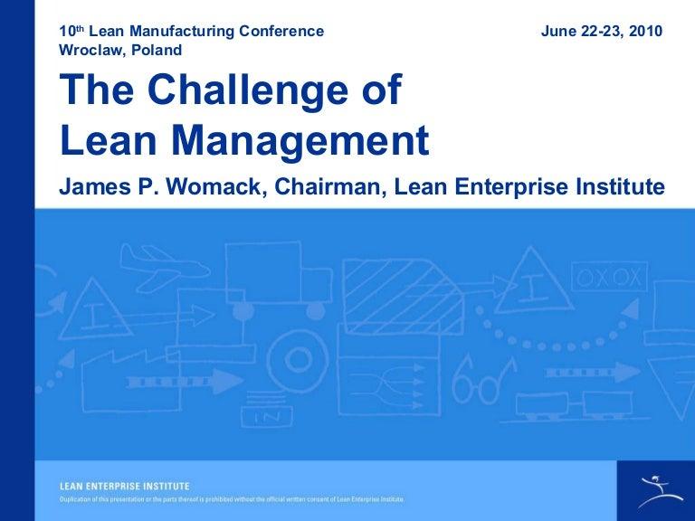 Womack Modern Vs Lean Management