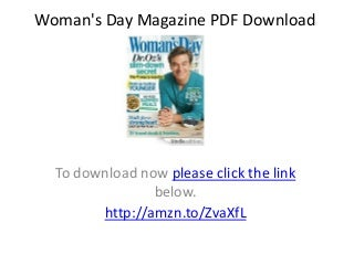 Woman's Day Magazine PDF Download