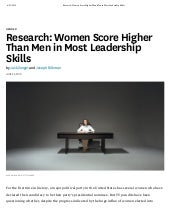 How Men and Women Differ Across Leadership Traits