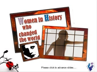 Women in history who changed the world