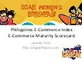 Women in Tech #goab Philippines E-Commerce Index and E-Commerce Maturity Scorecard