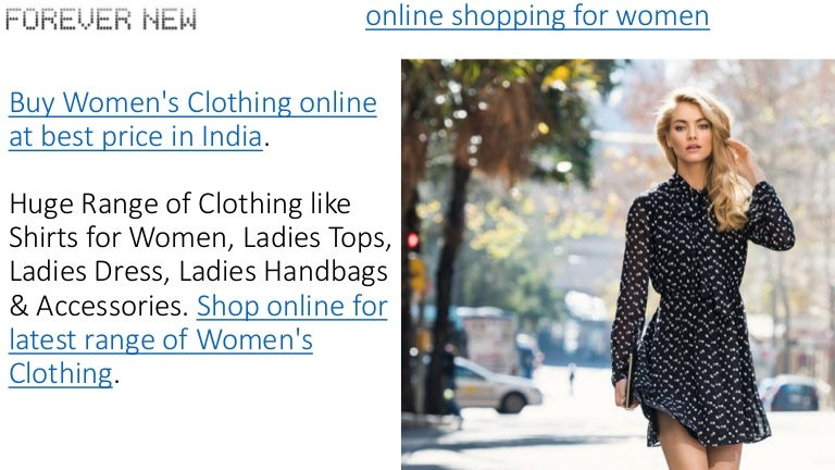 Ladies Clothes Online Shopping