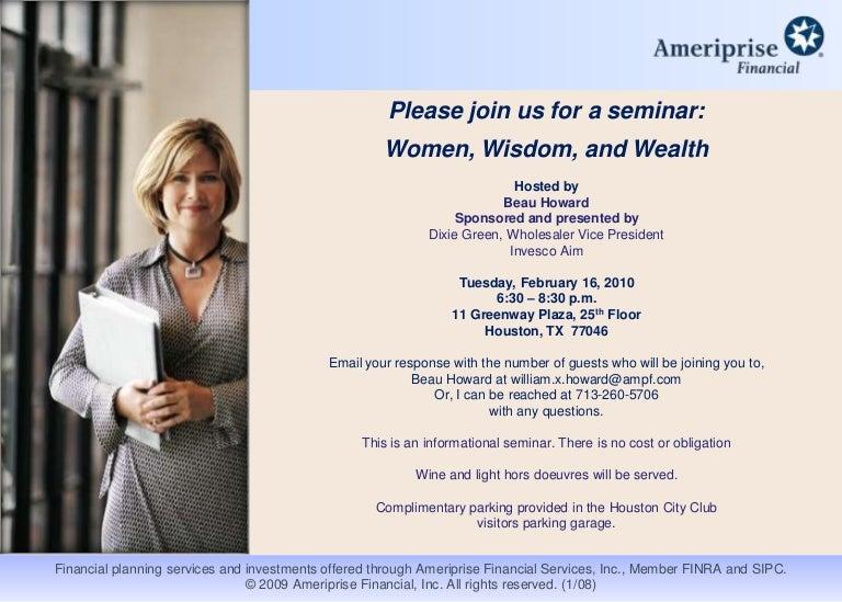 seminar invite template