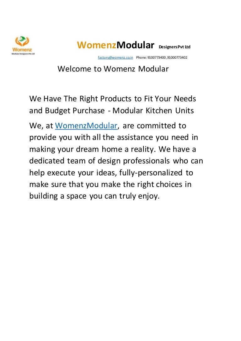 Womenz Modular Designers Pvt Ltd Kukatpally