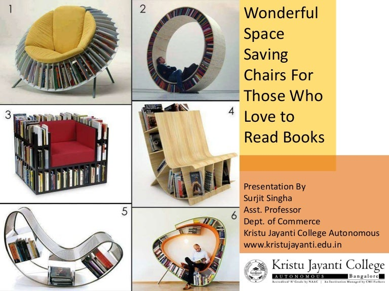 Wonderful Space Saving Chairs for Those Who Love to Read Books