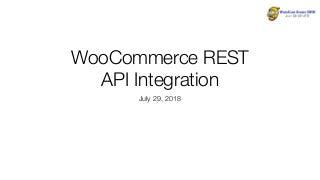 WooCommerce REST API Integration