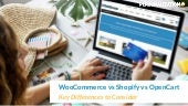WooCommerce vs Shopify vs OpenCart: Key Differences to Consider