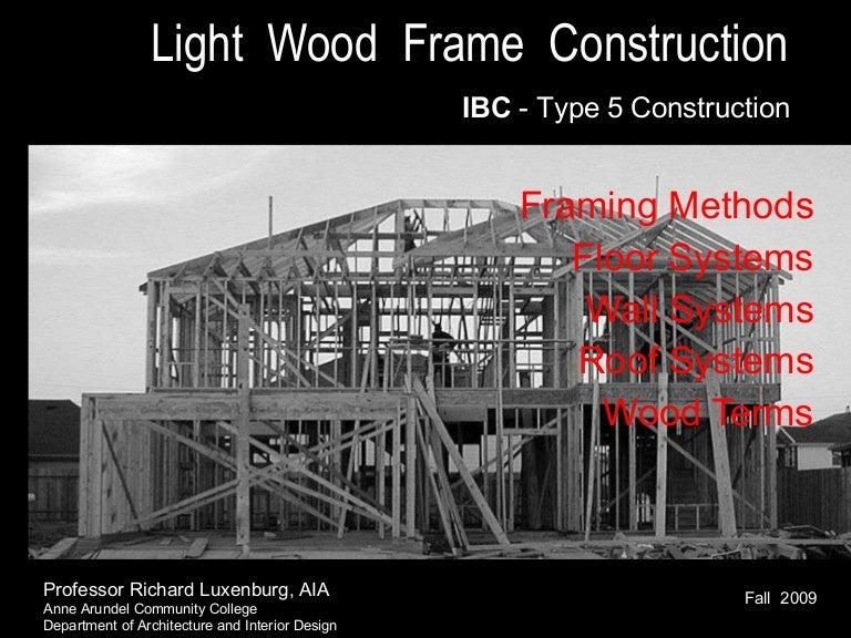 Wood Framing F 09