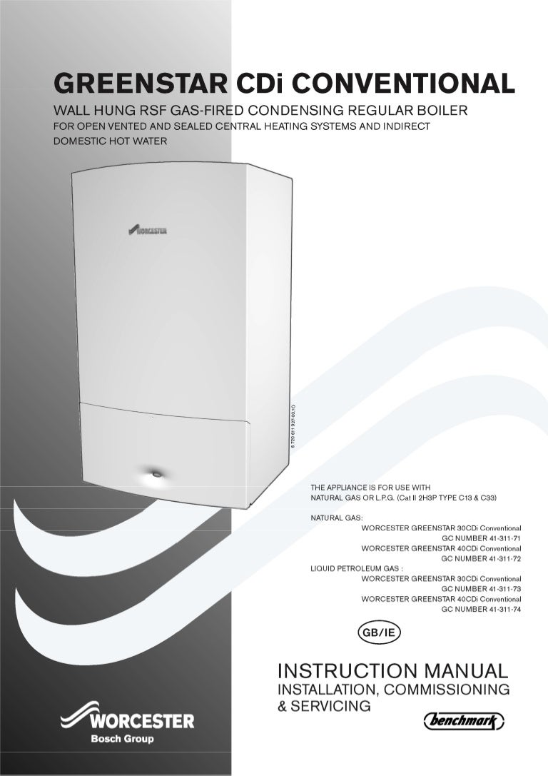 worcester greenstar 40 cdi conventional installation and servicing rh slideshare net Toshiba User Guide Manual Guide Book