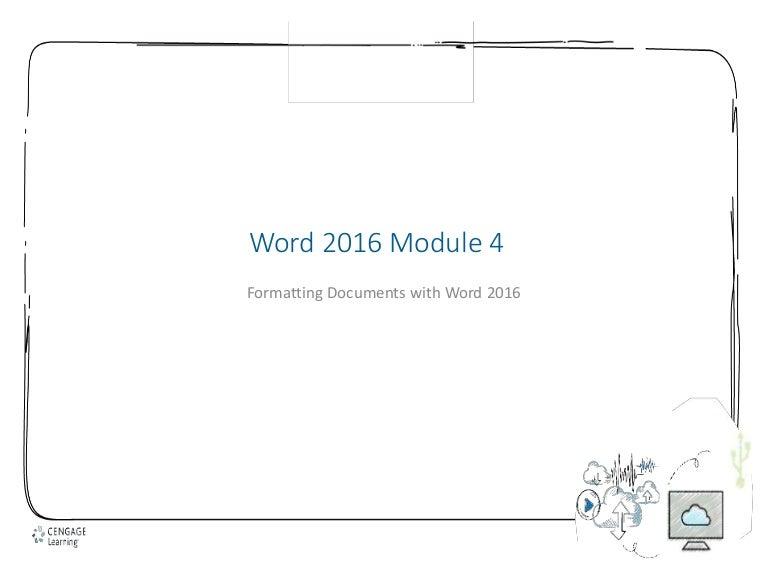 Word 2016 module 4 pp