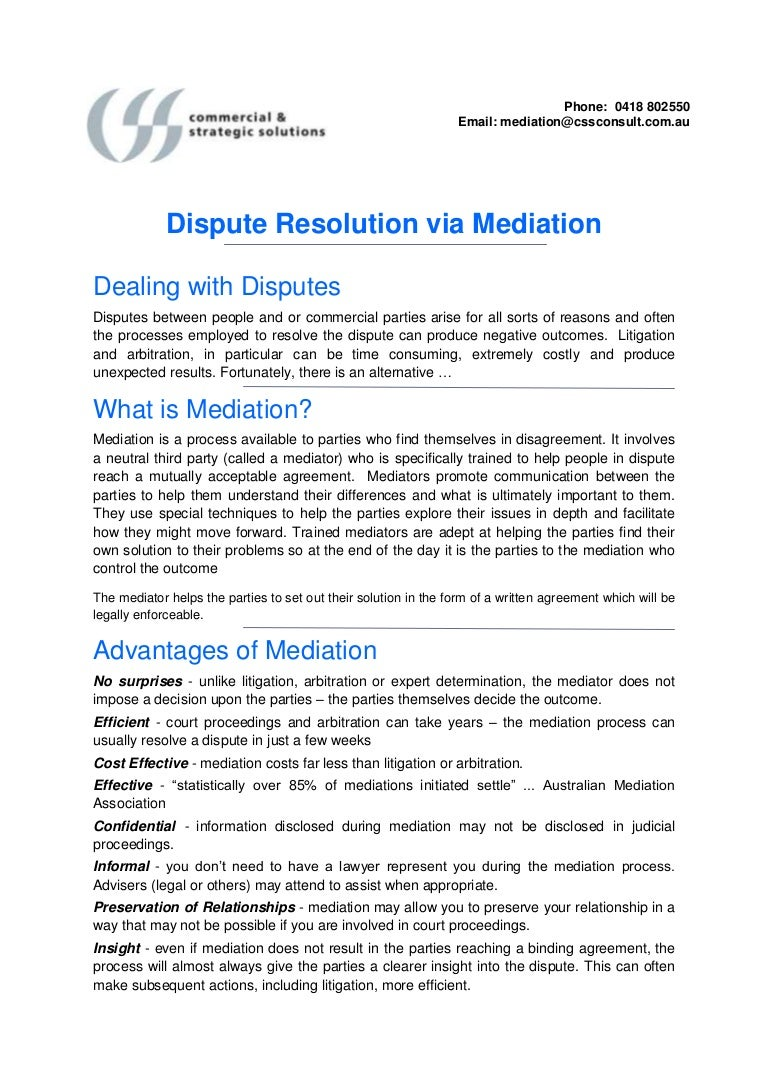 Mediation Alternative Dispute Resolution Adr Adelaide Based