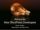Advice for New WordPress Developers