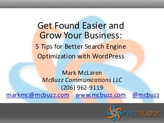 WordCamp Vancouver 2010 - Search Engine Optimization (SEO) Tips for WordPress